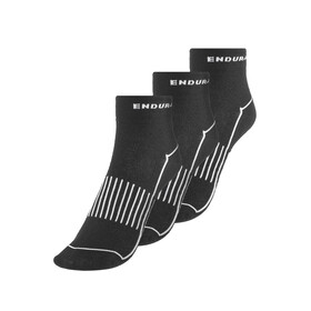 Endura Coolmax Race Cycling Socks Women triple pack black
